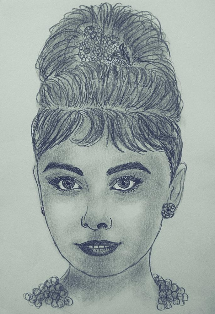 Audrey Hepburn by kendzik